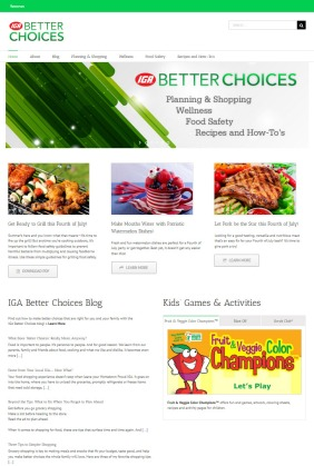 IGA Better Choices website