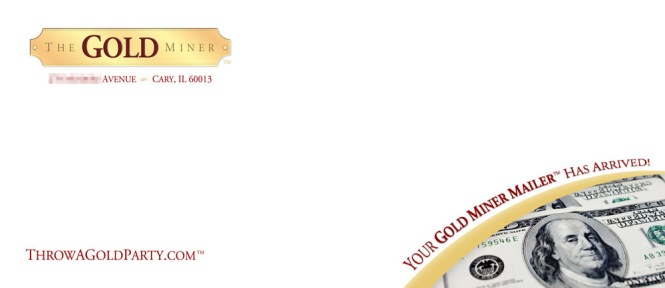 Gold Miner envelope